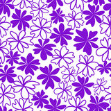 Seamless violet flower background. Seamless violet repeating flower background Royalty Free Stock Photo