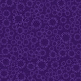 Seamless violet flower mandala for print on textile, fabric, coloring books and abstract backgrounds Stock Photography