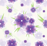 Seamless violet flower pattern Royalty Free Stock Photos