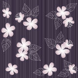 Seamless  violet flower pattern background Stock Images