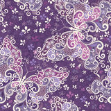 Seamless violet motley pattern Stock Image