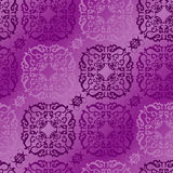 Seamless violet ornament pattern Stock Photo