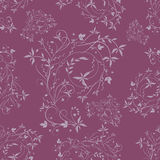 Seamless violet pattern Stock Photography