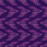 Seamless violet Pattern with floral arrows. Vector Royalty Free Stock Photography