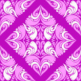Seamless violet Pattern with pink-white Ornament. Stock Photos