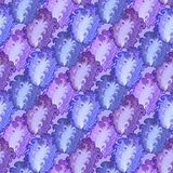 Seamless violet peacock feather vector pattern background. Stock Image