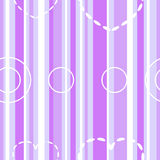 Seamless violet stripes with hearts and circles Royalty Free Stock Image