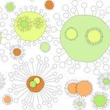 Seamless Virus Flowers. Virus, flowers or dandelions in soft colors Stock Images