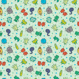 Seamless virus pattern Stock Photo
