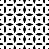 Seamless visual circles geometric pattern Stock Images