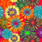Seamless vivid cluster background Royalty Free Stock Photos