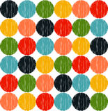 Seamless vivid color dots pattern Royalty Free Stock Photos