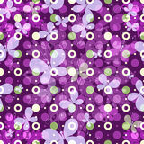 Seamless vivid spring pattern. With polka dots with transparent butterflies and mandala (vector EPS 10 Royalty Free Stock Photos