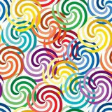 Seamless vivid swirl pattern Royalty Free Stock Photos
