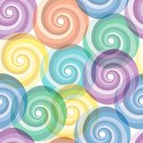 Seamless vivid swirl pattern Royalty Free Stock Photo