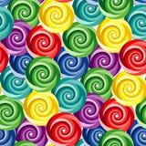 Seamless vivid swirl pattern Stock Images