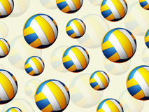 Volleyball balls background Stock Images