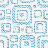 09-0052-17. Seamless Volume Pattern. Abstract Technology Background. Modern Wallpaper royalty free illustration