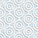 09-0043-01. Seamless Volume Pattern. Abstract Technology Background. Modern Wallpaper royalty free illustration
