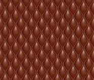 Seamless volumetric texture of brown leather Stock Images