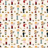 Seamless waiter and waitress pattern Royalty Free Stock Photography