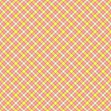 Seamless wall-paper, plaid, pink and yellow. Seamless wall-paper, plaid, pink-yellow. A classical pattern with rhombuses, a bright print for fabric, greeting Stock Photos