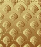 Seamless wallpaper. Gold seamless wallpaper background. Vector illustration Royalty Free Stock Photos