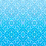 Seamless Wallpaper. Vector Seamless Blue Damask Wallpaper vector illustration