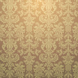 Seamless Wallpaper. Damask seamless wallpaper. Vector illustration Royalty Free Stock Photo