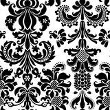Seamless Wallpaper. Damask seamless wallpaper. Vector illustration Stock Photo