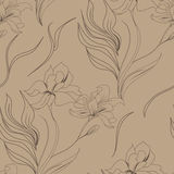 Seamless wallpaper. With lily flowers Royalty Free Stock Photography