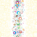 Seamless wallpaper. Vertical illustration. Vector Royalty Free Stock Photos