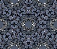 Seamless wallpaper. Seamless abstract ornamental grey wallpaper Royalty Free Stock Photo