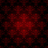 Seamless wallpaper. Decorative red seamless wallpaper with black background Royalty Free Stock Image