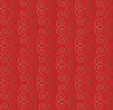 Seamless wallpaper. Seamless abstract wallpaper pattern on red background - vector illustration Stock Photo