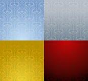 Seamless wallpaper. Four colour seamless wallpaper. Vector image Stock Image