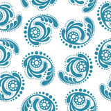 Seamless Wallpaper.abstract blue pattern on a white background Stock Image