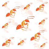 Seamless wallpaper ants Royalty Free Stock Photos