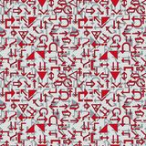 Seamless arrow pattern. Seamless wallpaper with arrow signs Stock Images