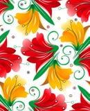 Seamless wallpaper av blommor Fotografering för Bildbyråer