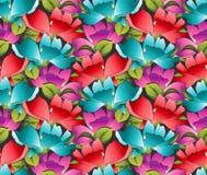 Seamless wallpaper av utsmyckade blommor Arkivbilder