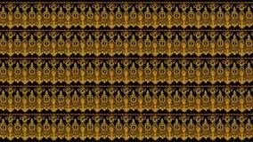 Seamless wallpaper background floral vintage gold Stock Image