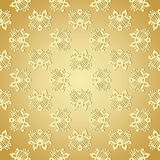 Seamless wallpaper background floral vintage gold vector Stock Images