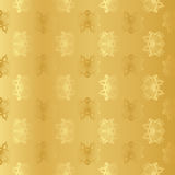 Seamless wallpaper background floral vintage gold vector Stock Photo