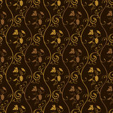 Seamless wallpaper background grapes decor vintage. Brown Stock Photography
