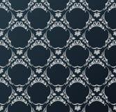 Seamless wallpaper background vintage black stock illustration