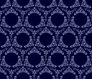 Seamless wallpaper background vintage blue black Stock Photos