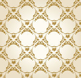 Seamless wallpaper background vintage gold Royalty Free Stock Photography
