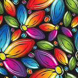 Seamless wallpaper of beautiful vector flowers Royalty Free Stock Images