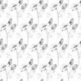 Seamless wallpaper with beautiful wild flowers Stock Photo